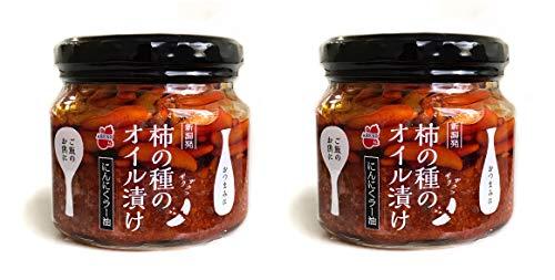阿部幸製菓 新潟 柿の種のオイル漬け にんにくラー油 160g×2個セット