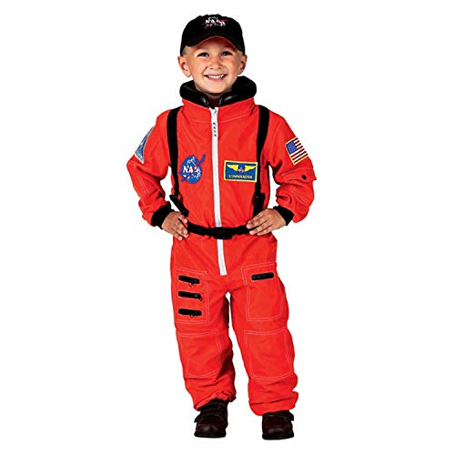 Aeromax - AEAASO68 , Inc. Get Real Gear NASA Astronaut Suit & Embroidered Cap, Orange, Size 6/8