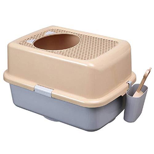 Chat de litière Top Entrée Grille Toilette Chat Toilette Grand chat Sand Bassin Anti-Splash Chat Fournitures de...