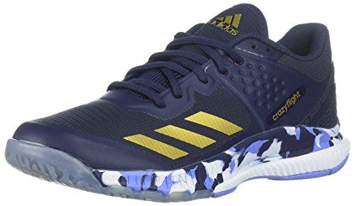adidas Women's Crazyflight Bounce W Volleyball Shoe, Noble Ink/Metallic Gold/Chalk Purple, 10 M US