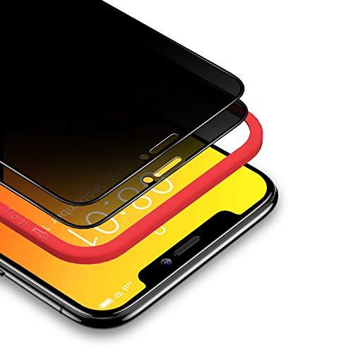 BANNIO Protector Pantalla Antiespias para iPhone 11/iPhone XR,2 Unidades 3D Cobertura Completa...