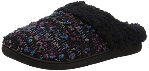 Dearfoams Damen Tweed Knit Clog Slipper, schwarz, Small/Medium EU