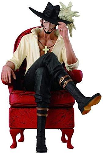 Anime Figure Manga Figure personaje Modelo de carcter Figura de accin One Piece Hawkeye Dracule Mihawk The Swearsman World World Frendst Animation Carcter Modelo Juguetes for nios Regalo 14 cm yqa