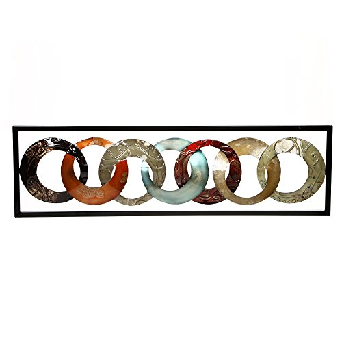 "Hosley Metal Wall Décor 35"" High. Ideal Gift for Home, Weddings, Party, Spa, Meditation, Home Office, Dorm O4"
