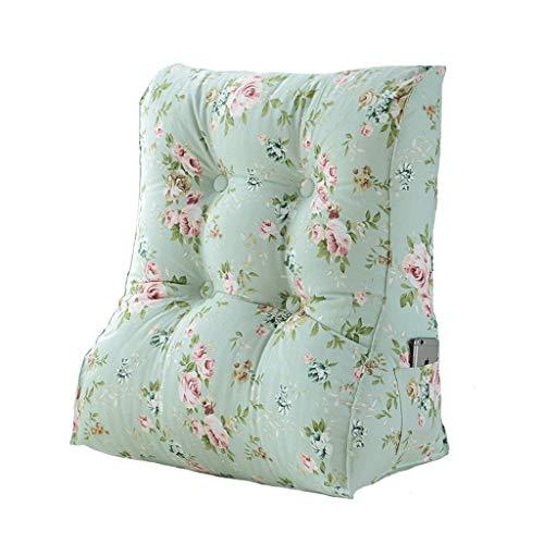 Pillows Bücherkissen Kissen Waist-Bett-Kopfstütze Triangle Schlafsofa Soft-Office-Waist-Kissen abnehmbar und waschbar, 2 Farben, 2 Größen ZSMFCD (Color : B, Size : 55cmX30cmX60cm)