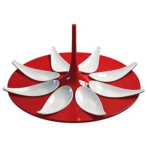 Mebel Entity 16 - Set de cucharas de degustación Color Rojo