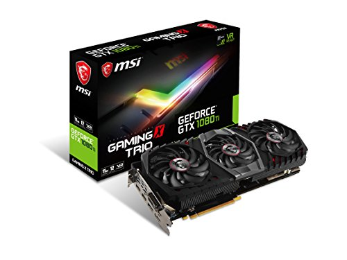 MSI Gaming GeForce GTX 1080Ti 11GB GDDR5X 352-bit DirectX 12VR bereit Grafikkarte schwarz/schwarz (GTX 1080Ti Gaming X Trio)