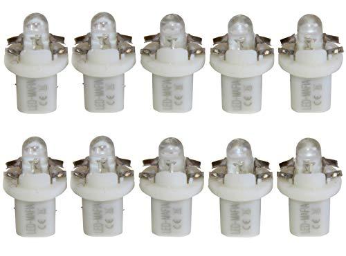 LED-Mafia Lot de 10 ampoules de comptage ronds à LED Bleu/rouge/blanc
