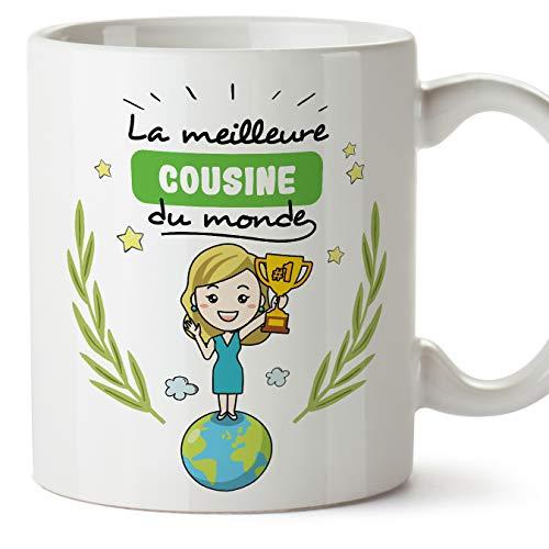 MUGFFINS Mug/Tasse Cousine -Famille Monde -Idées Cadeaux Drôles -Tasses de Café/Thé