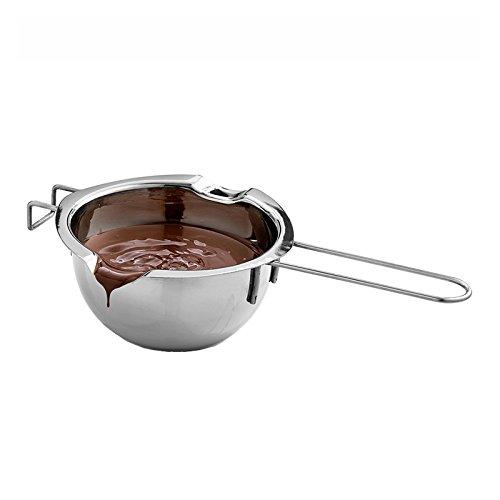 Proglam Edelstahl Schokoladenschmelztopf Ofen Beheizte Milchschüssel mit Griff Beheizte Butter Werkzeug Backen Gebäck Werkzeuge