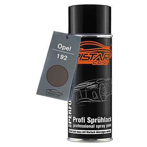 TRISTARcolor Autolack Spraydose für Opel 192 Granit Grau Metallic Basislack Sprühdose 400ml