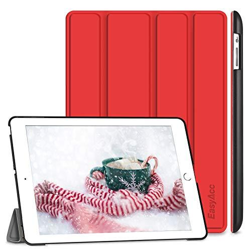 EasyAcc Hülle für iPad 4 iPad 3 iPad 2, Ultra Dünn Schutzhülle mit Ständer Funktion eingebautem Magnet Einschlaf/Aufwach Kompatibel für iPad 2/3/4 - Rot