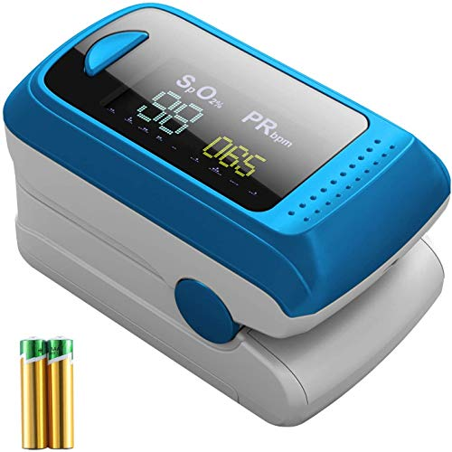 MedX5 OLED Farbdisplay, Pulsoximeter, Fingerpulsoximeter, Pulsmessgerät, Oximeter, Pulsmesser, zertifiziertes Medizinprodukt mit EXTRA Zubehör