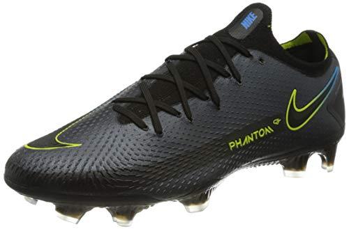 Nike Phantom GT Elite FG, Scarpe da Calcio Unisex-Adulto, Black/Black-Cyber-lt Photo Blue, 47.5 EU