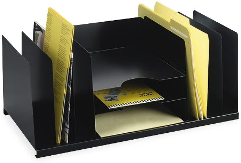 STEELMASTER Steel Combination Desk Organizer, Letter Size, 21.5  x 9.5  x 11.4 , Black (2643DOBK)