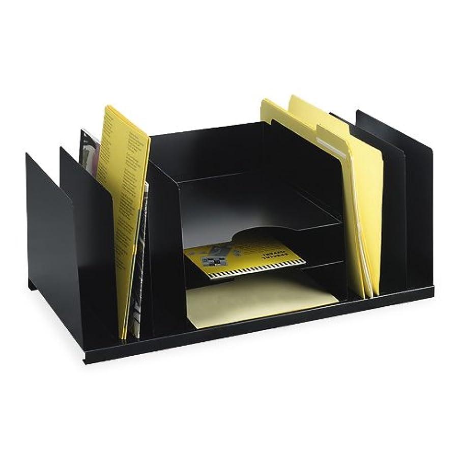指導する主人狐(Black, 1 - Pack) - 3 X STEELMASTER Steel Combination Desk Organiser, Letter Size, 21.5 x 24cm x 29cm, Black