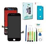 7iper Screen Replacement for iPhone 8 Plus (5.5 inch) -3D Touch LCD Screen Digitizer Replacement Display Assembly with Waterproof Adhesive, Tempered Glass, Tools,Instruction (Black)