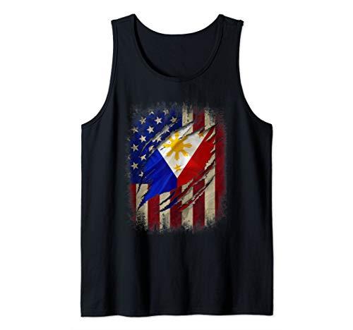 Filipino American Flag Filipino Blood Inside Me Gift Tank Top