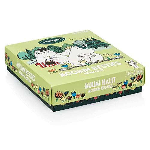Moomin Besties, Hochwertige Mumin Tee-Geschenkbox, 4 verschiedenen BIO-Tees, 24 Teebeutel