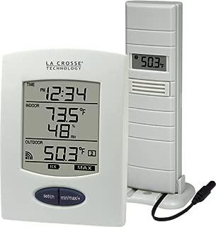 La Crosse Technology WS-9029U Wireless Weather Station with Digital Time, L, White