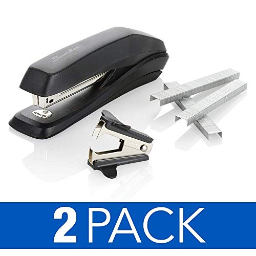 Antimicrobial Stapler Value Pack that Resists Bacteria by Swingline, 15 Sheet Capacity, includes Staples & Stapler Remover, 2 Pack (S70754551AZ)