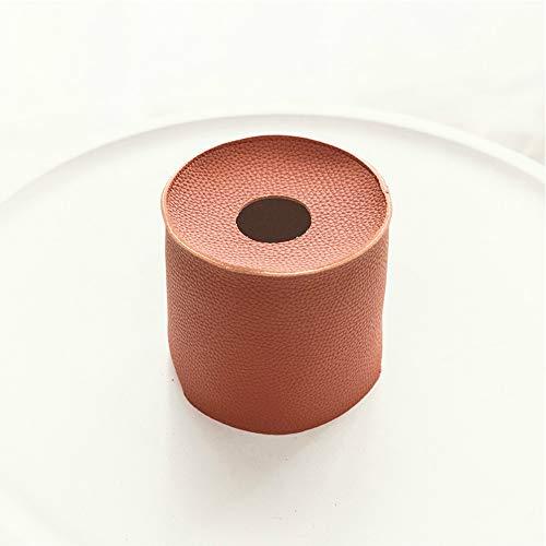 donfhfey827 Caja de Almacenamiento de Toalla de Papel Redonda de Cuero Multifuncional para baño doméstico Impermeable