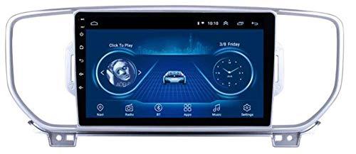 Coche estéreo Android 10 GPS navegación para KIA KX5 Spanage, Reproductor Multimedia Radio 9 Pulgadas Pantalla táctil Completa Soporte Completo Bluetooth WiFi FM Mirror Link Control de Volante