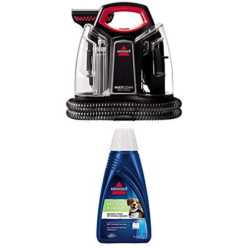 BISSELL MultiClean Spot & Stain Flecken-Reinigungsgerät für Teppiche und Polster, 300 W + Spot & Stain Pet, Reinigungsmittel für Haustiergerüche und -flecken