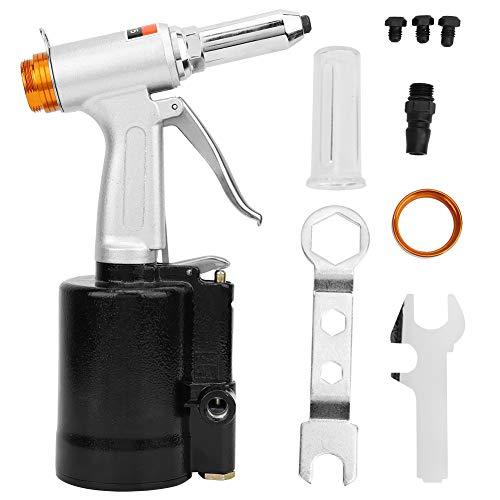 Pistola remachadora neumática, remachadora de aire vertical de grado industrial de 3 mordazas para clavos de 2,4 mm / 3,2 mm / 4,0 mm / 4,8 mm Herramienta de remachado neumática
