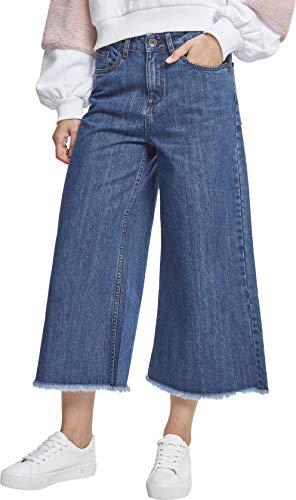 Urban Classics Damen Ladies Denim Culotte Hose, Blau (Ocean Blue 00830), W30 (Herstellergröße: XL)