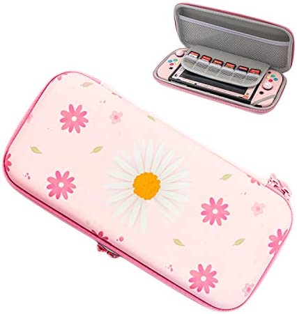 Pink Carrying Case for Switch Portable Travel case with Game Card Holder for Switch product image