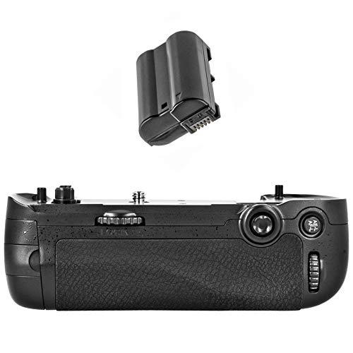 Meike - Empuñadura de batería para cámara Nikon D750 (Similar a Nikon MB-D16 y EN-EL15, 1600 mAh)