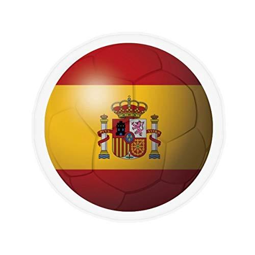 DIYthinker España Fútbol Nacional Fútbol de Bandera de Suelo Antideslizante Estera del Animal doméstico Ronda Baño Sala Cocina Puerta 60 / 50Cm Regalo 60X60Cm