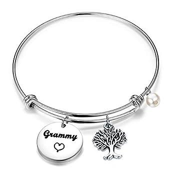 BEKECH Grammy Bracelet Grandma Grammy Charm Expandable Wire Bangle Mothers Day Grandma Gifts Nana Gifts  Grammy bracelet