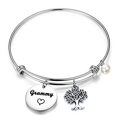 BEKECH Grammy Bracelet Grandma Grammy Charm Expandable Wire Bangle Mothers Day Grandma Gifts Nana Gifts (Grammy bracelet)