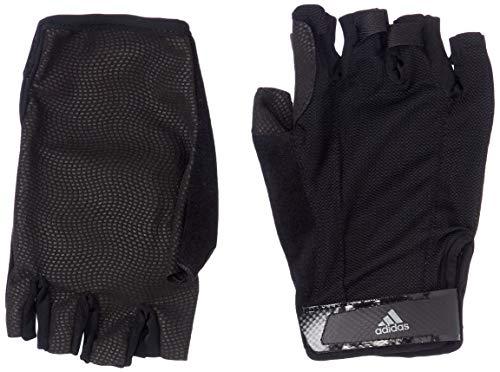 adidas Versatile Climalite Handschuhe, Black/Black/Iron Metallic, S