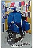 Nostalgic-Art Cartel de chapa retro Vespa – Italian Laundry – Idea de regalo para los...