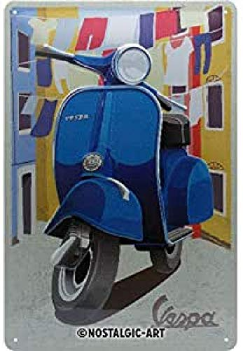 Nostalgic-Art Cartel de chapa retro Vespa – Italian Laundry – Idea de...