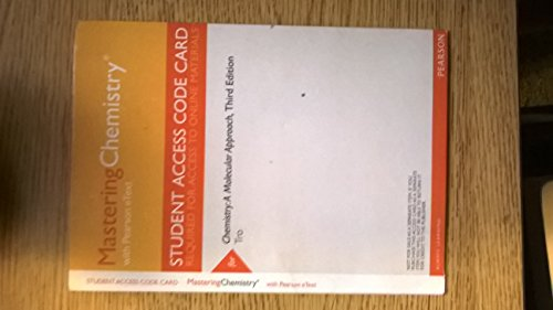 MasteringChemistry with Pearson Etext -- Valuepack Access Card -- for Chemistry: A Molecular Approach