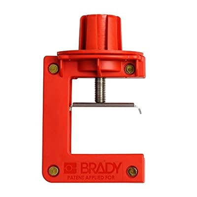 """Brady 121504, Butterfly Valve Lockout, 0.8"""" to 2.5"""" Handle Thickness Range, Pack of 8 pcs from Brady"""