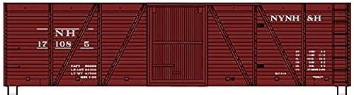Precio por piso Accurail HO Scale Kit Kit Kit 40' Wood Box Car New Haven NH by Accurail  Felices compras