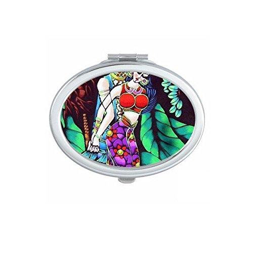 DIYthinker l'homme Sexy et Femme Bikini Romance Arbre Clair de Lune Peinture Ovale Maquillage Compact Miroir de Poche Portable Mignon Petit Miroirs Ma