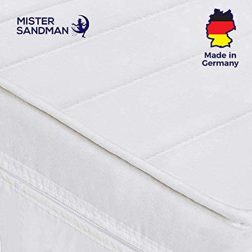 Mister Sandman 7-Zonen Kaltschaummatratze mit Mikrofaserbezug, weiß, 100 200
