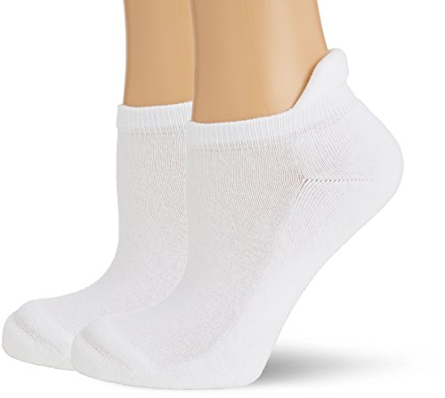 Hudson Damen Sneaker Socken mit Plüschsohle, 025037 Only Plush, 2er Pack, Gr. 35/38, Weiß (White 0008)