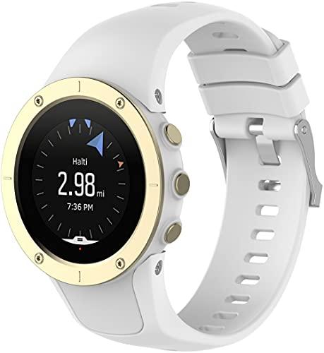 Gransho Correa de Reloj Recambios Correa Relojes Caucho Compatible con Suunto Spartan Trainer Wrist HR - Silicona Correa Reloj con Hebilla (Pattern 2)