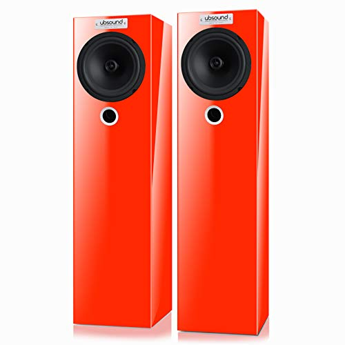 Affordable UBSOUND Feel FL38 - Handmade Passive Loudspeakers (Pair), 100W, 2-Way, 8 ohm, Floor Stand...