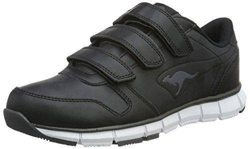 KangaROOS K-BlueRun 700 V B Sneaker Unisex-Erwachsene, Schwarz (black/dk grey 522), 43 EU