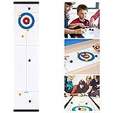 Fyeep Tisch Curling Spiel, Shuffleboard-Tisch,Mini Desktop-Eishockey, 2 in1-Tischspiele-Set Mit...