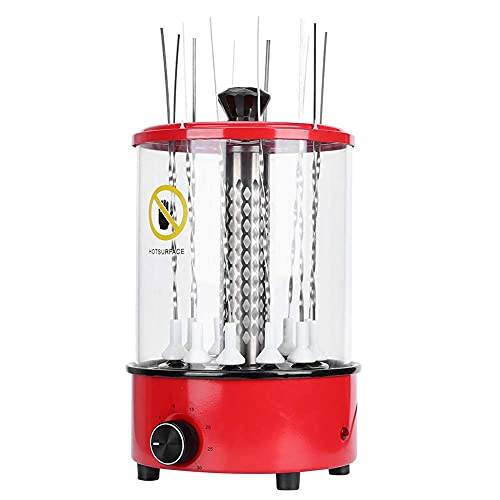 Parrilla paraBarbacoa,ParrillaEléctrica Vertical para Barbacoa Máquina Multifuncional para Barbacoa Aparatos De Cocina con 12 Púas De Hierro Práctico Electrodoméstico Esencial para La Cocina del
