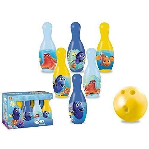 Lively Moments Bowling - Set / Kegelset / Bowlingpins / Spielzeug von Disney Pixar Finding Dory / Findet Nemo 2 für Kinder